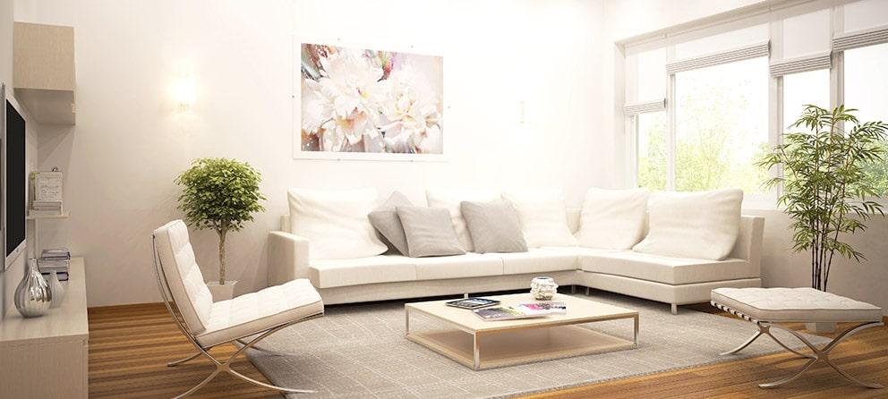 Wohnzimmer Objektvorbereitung